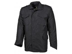 """US bunda """"Parka"""" (parker), černá barva, s odepínací prošívanou podšívkou"""
