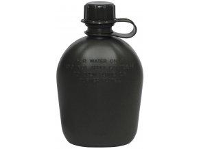 US plastová polní láhev bez potahu oliv