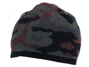 Čepice Acryl jemně pletená tarn-černá