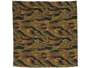 Šátek tiger stripe 55 x 55 cm bavlna