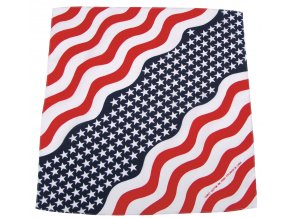 Šátek hvězdy a pruhy 55 x 55 cm bavlna