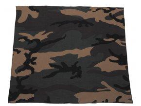 Šátek woodland 55 x 55 cm bavlna