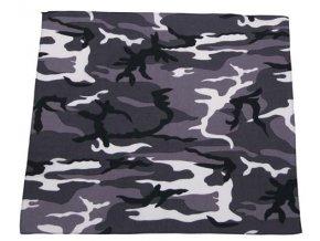 Šátek urban 55 x 55 cm bavlna