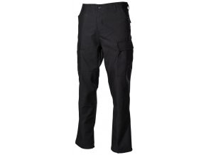 US klasické kalhoty BDU černé s podšitými koleny a sedací částí
