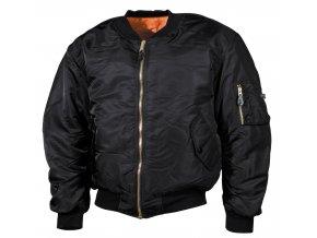 """US bunda """"bomber"""" MA1 černá nadměrné velikosti"""