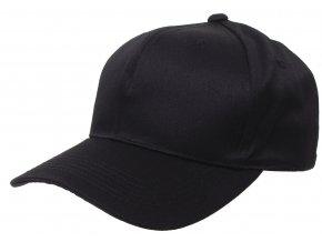 Klasická čepice s kšiltem Basebalka černá