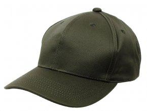 Klasická čepice s kšiltem Basebalka olivová