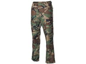 US klasické kalhoty BDU woodland s podšitými koleny a sedací částí