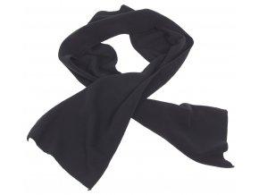 Fleecová šála černá 160x25 cm