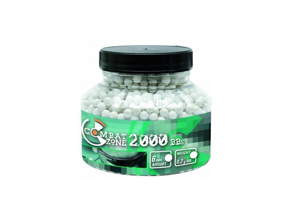Kuličky Combat Zone BB 6 mm 0,20 g - 2000 ks Bílé