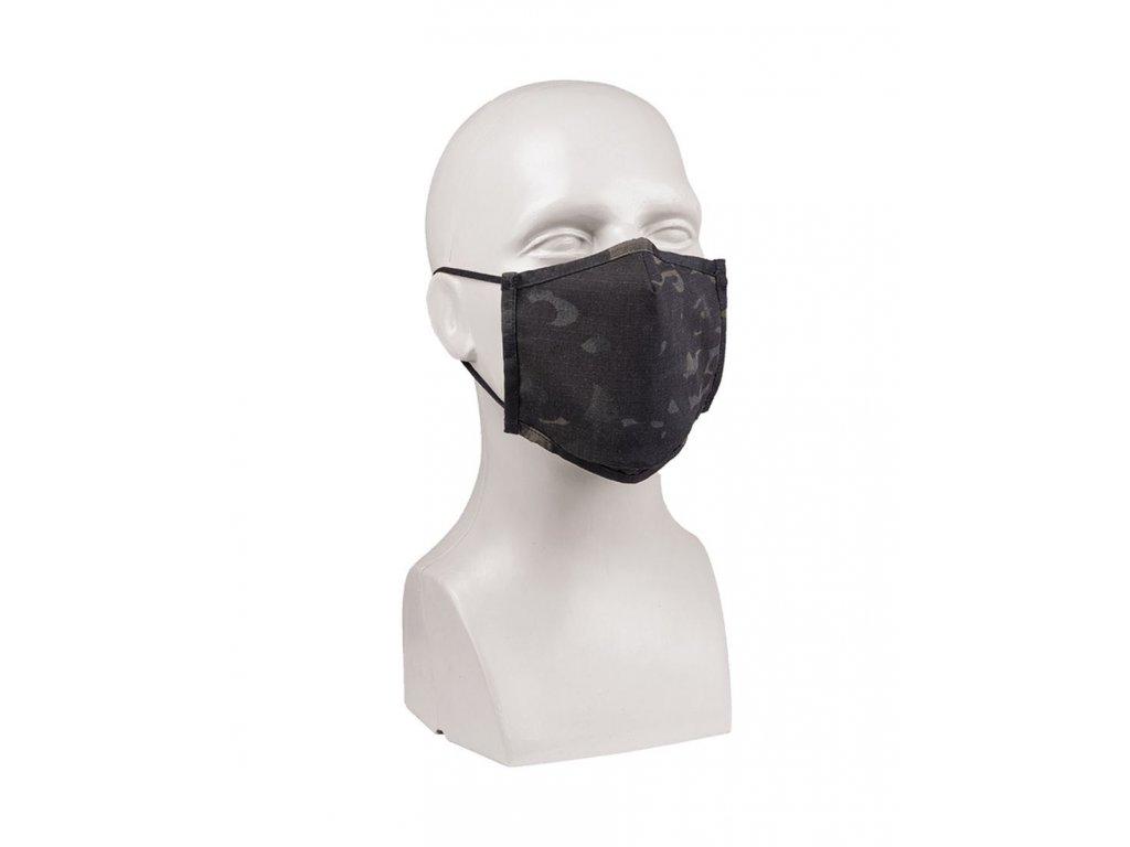 Ustni rouska MIL TEC Ripstop Multicam Black 1
