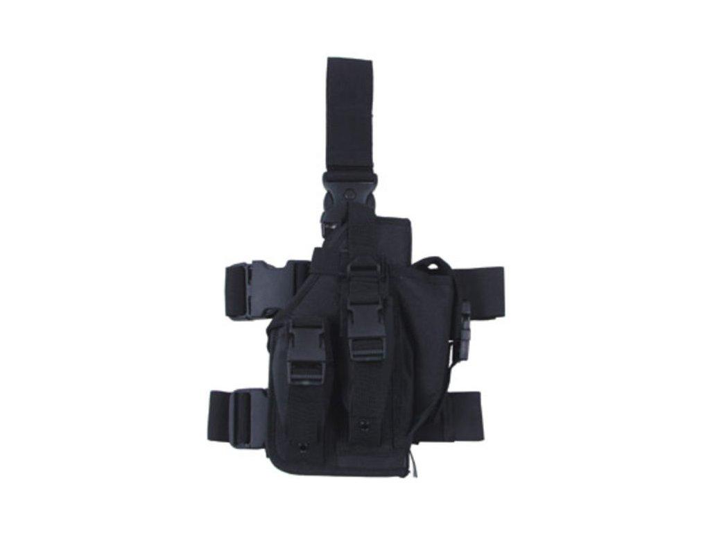 Pouzdro Max-Fuchs na pistoli stehenní pravé Large Černé