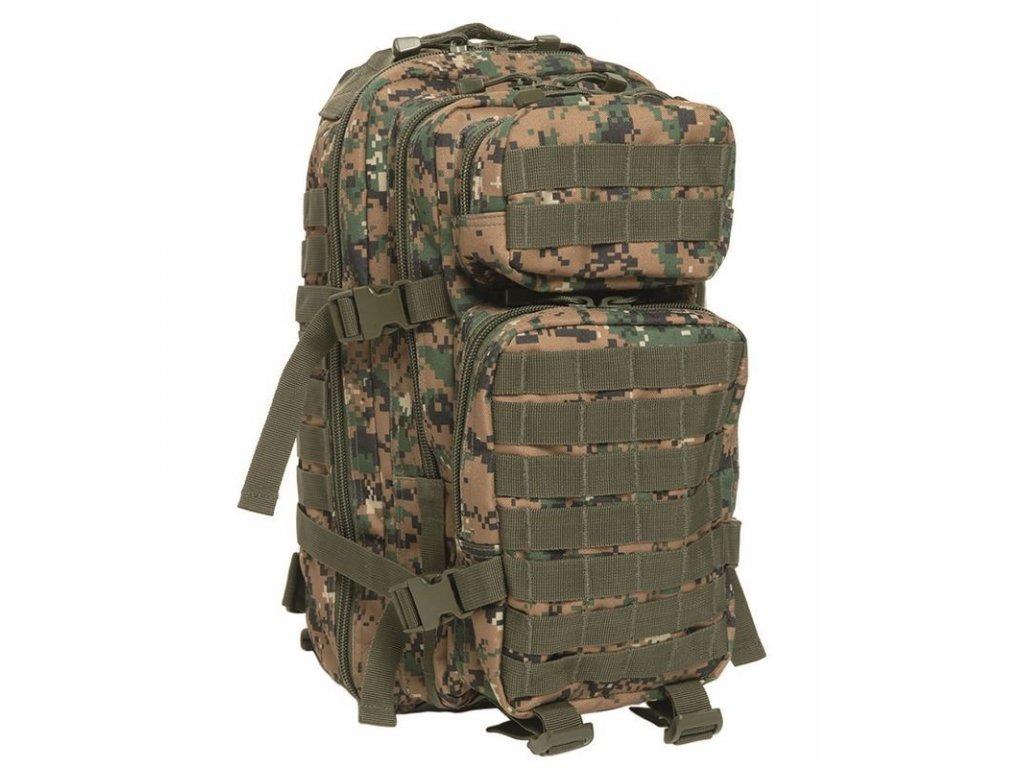 Batoh MIL-TEC US Assault Pack SM 20l Digital Woodland