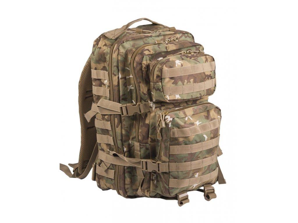 Batoh MIL TEC US Assault Pack LG 36l Arid Woodland