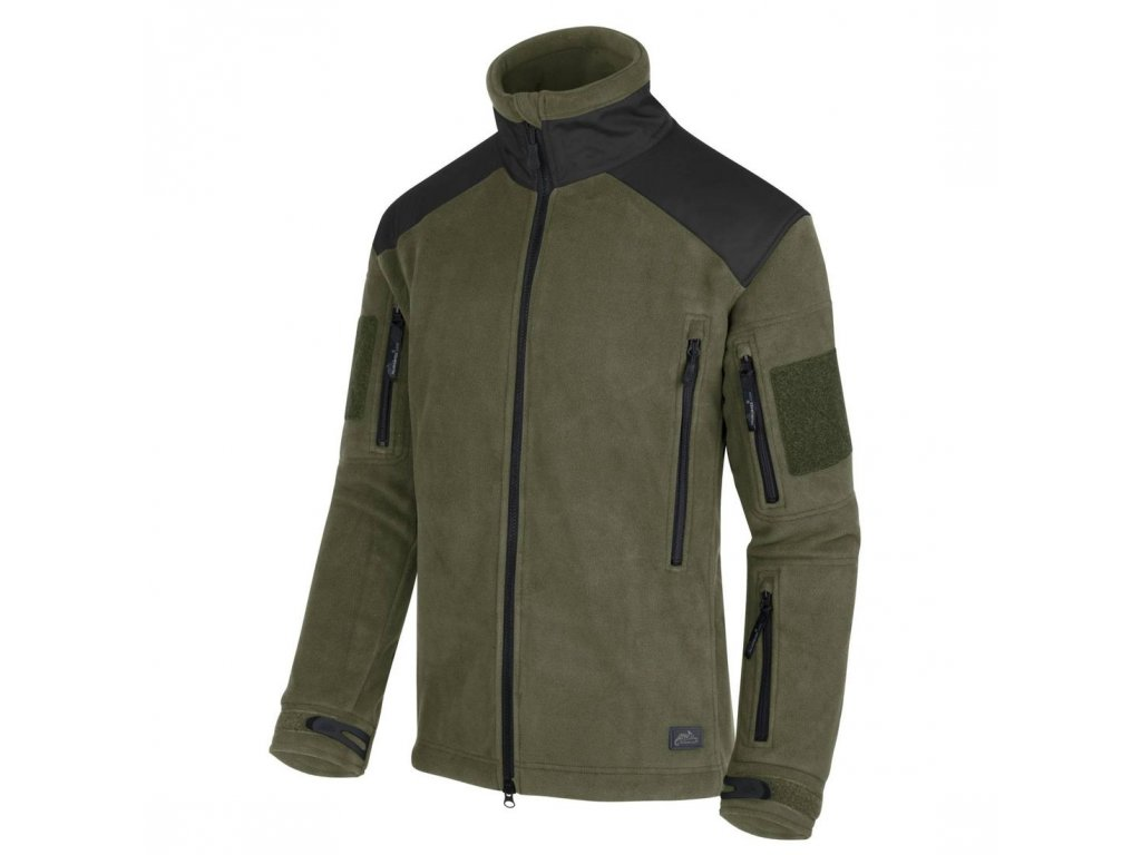 Bunda Helikon Tex® LIBERTY Heavy Fleece Olive Černá