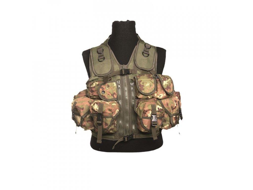 Taktická vesta MIL-TEC 9 kapes Vegetato Woodland