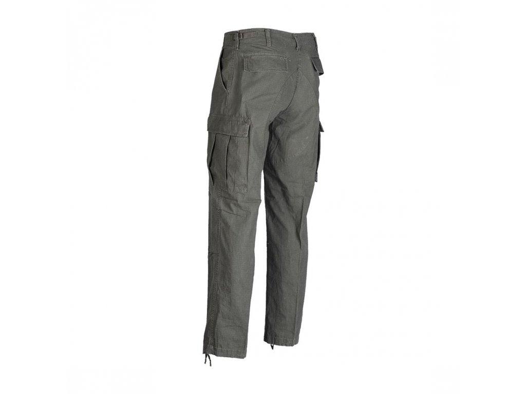 Kalhoty MIL-TEC BDU Olive - předepraný Vintage vzhled