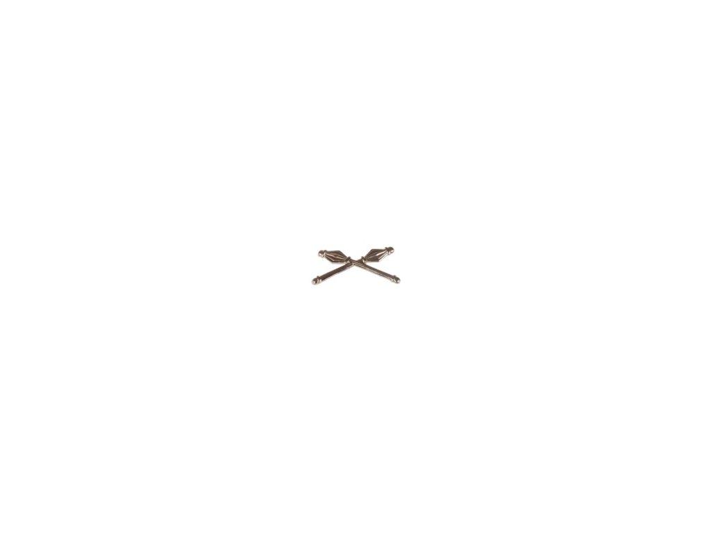 Znak rozlišovací ČSLA stříbřitý vševojskový na nárameníky