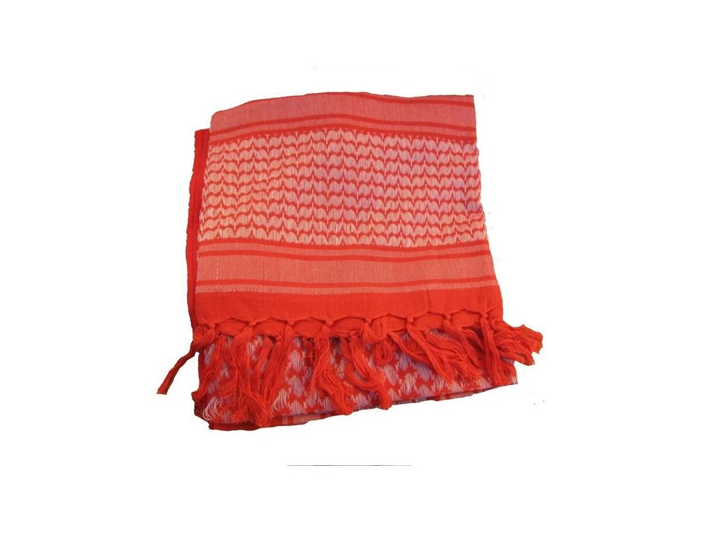 Šátek MMB SHEMAGH Červená/Bílá