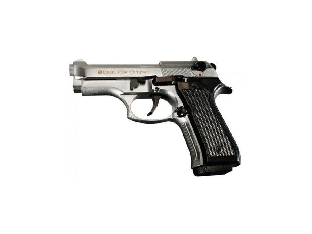 Plynová pistole Ekol/Voltran Firat Compact Nikl cal. 9 mm P.A.