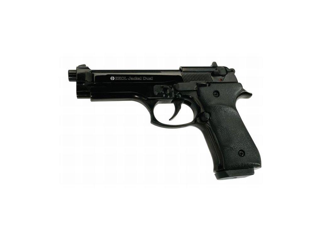 Plynová pistole Ekol/Voltran Jackal Dual Černá cal. 9 mm P.A.