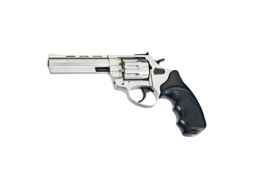 """Plynový revolver Atak Arms Zoraki R1 4,5"""" matný chrom cal: 9mm R / 9mm P.A. Knall"""