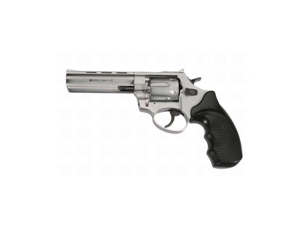 "Plynový revolver Ekol Viper 4,5"" Nikl cal: 9mm R / 9mm P.A. Knall"