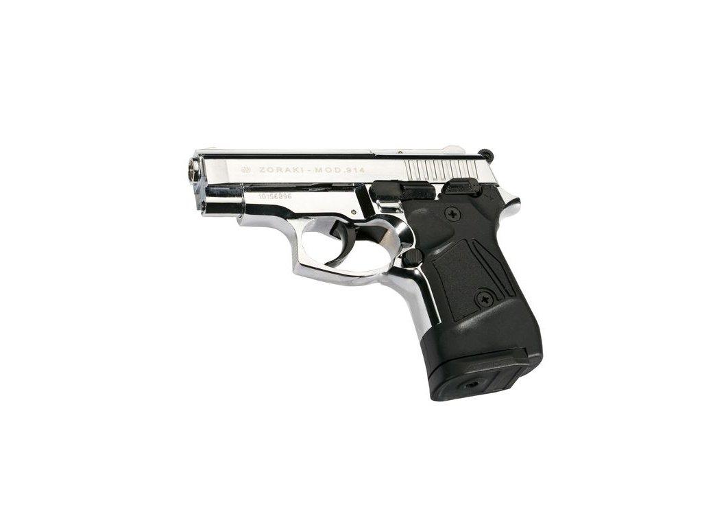 Plynová pistole Atak Arms Zoraki 914 Auto lesklý Chrom cal. 9mm P.A.Knall