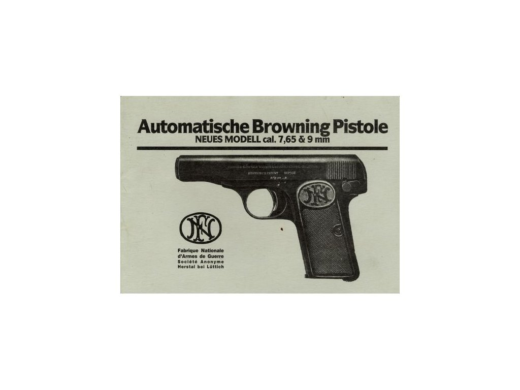 Manuál Browning 1910/1912 - reprint