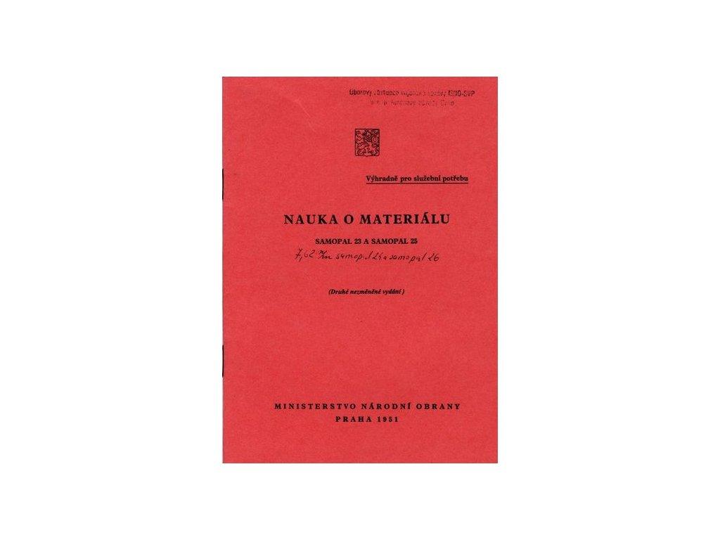 Nauka o materiálu Sa vz. 23 a Sa vz. 25