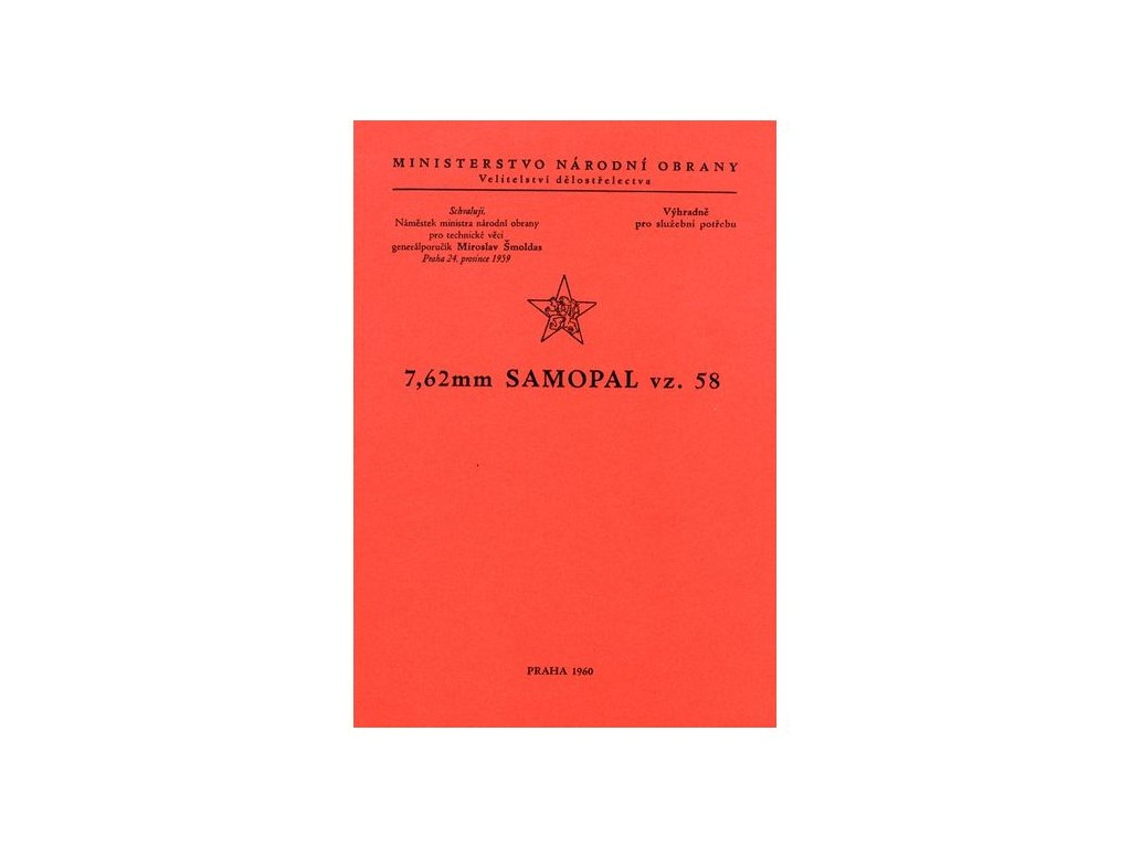 Předpis 7,62 Samopal vz. 58