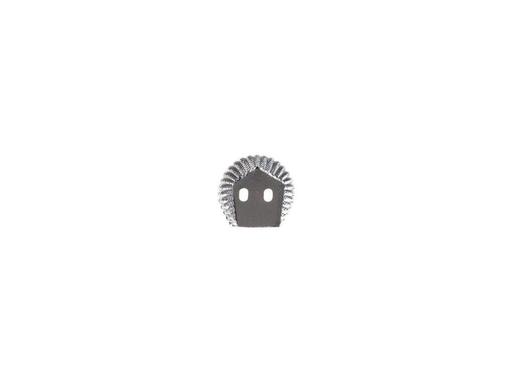 Odznak ČSLA - podložka ozdobná pod odznak na čepici stříbřitá