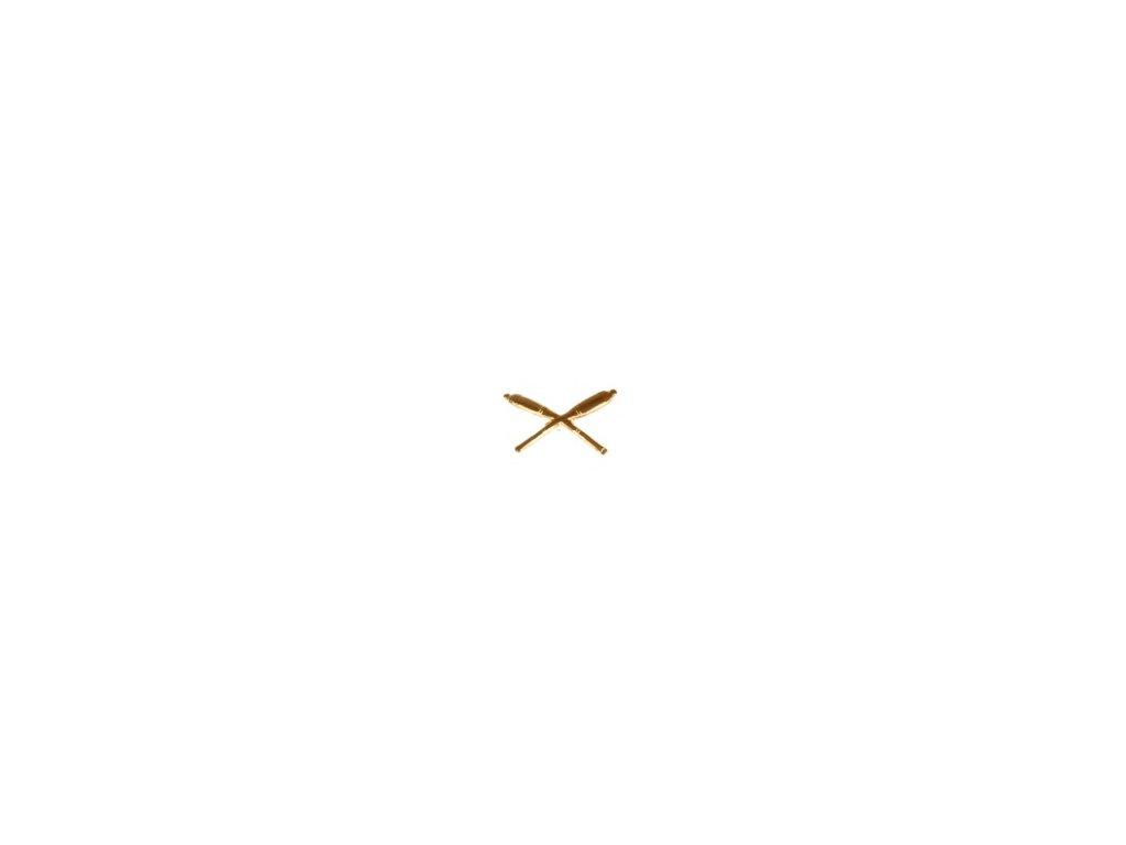 Znak rozlišovací AČR zlatový pro dělostřelectvo