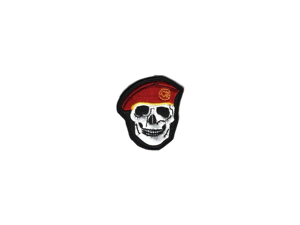 Nášivka Navys lebka Červená