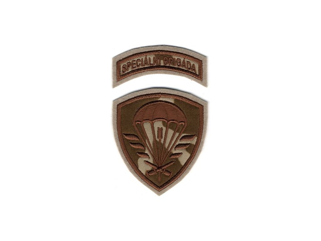 Nášivka Navys AČR Speciální brigáda CZ95 Desert