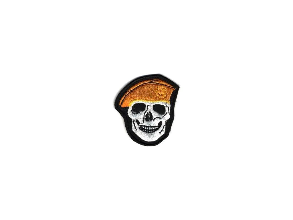 Nášivka Navys lebka Oranžová