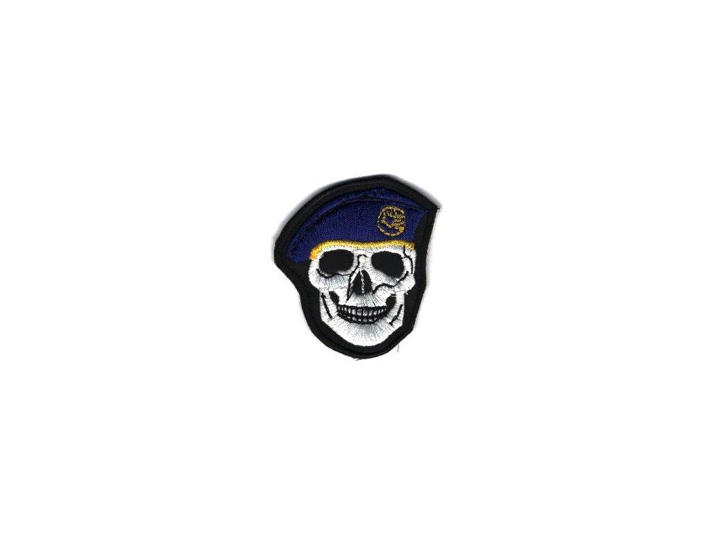 Nášivka Navys lebka tmavě Modrá