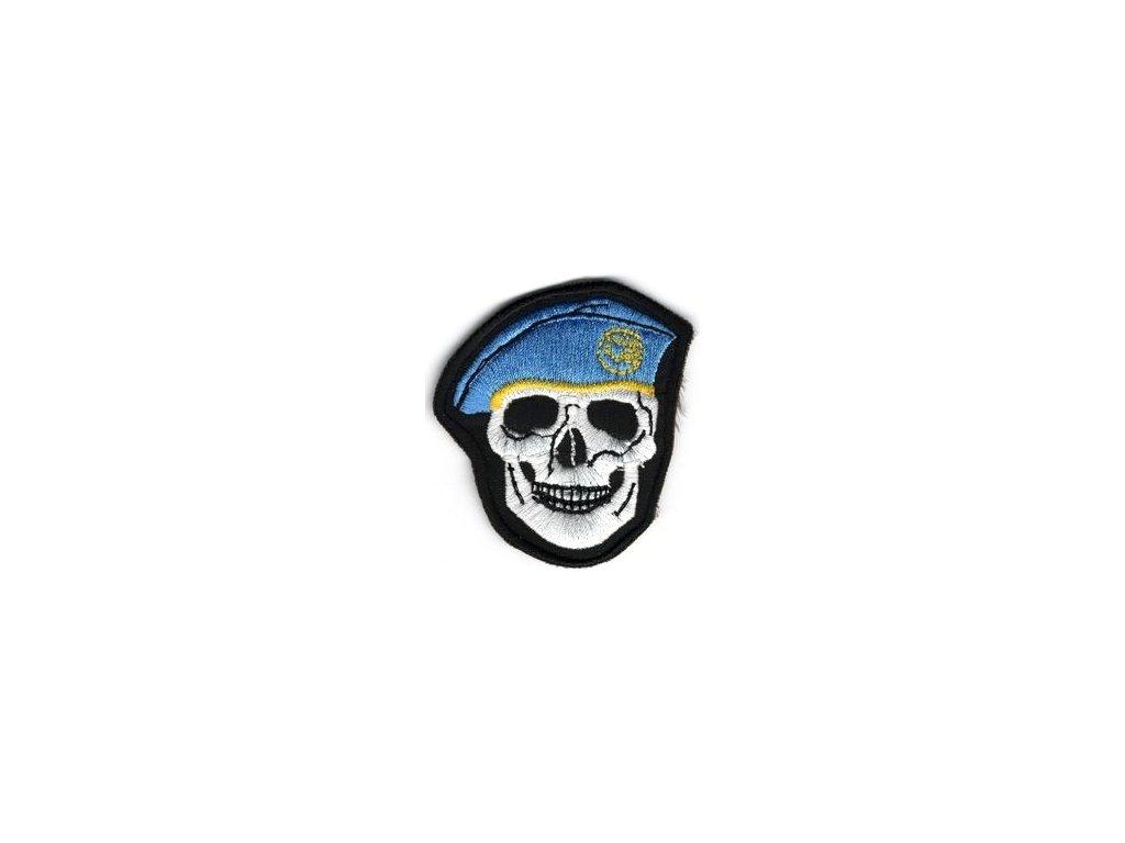 Nášivka Navys lebka světle Modrá