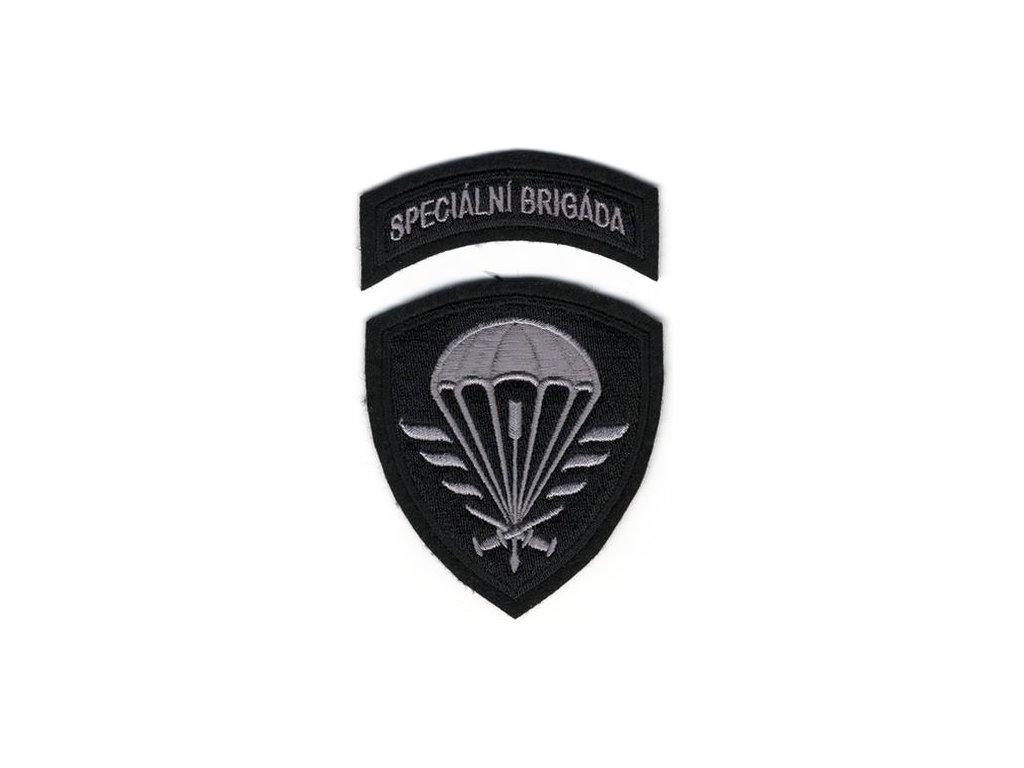 Nášivka Navys AČR Speciální brigáda Černá
