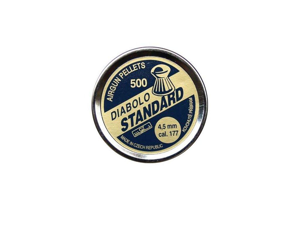 Diabolky Kovohutě Příbram Standard 500, 4,5mm (.177)