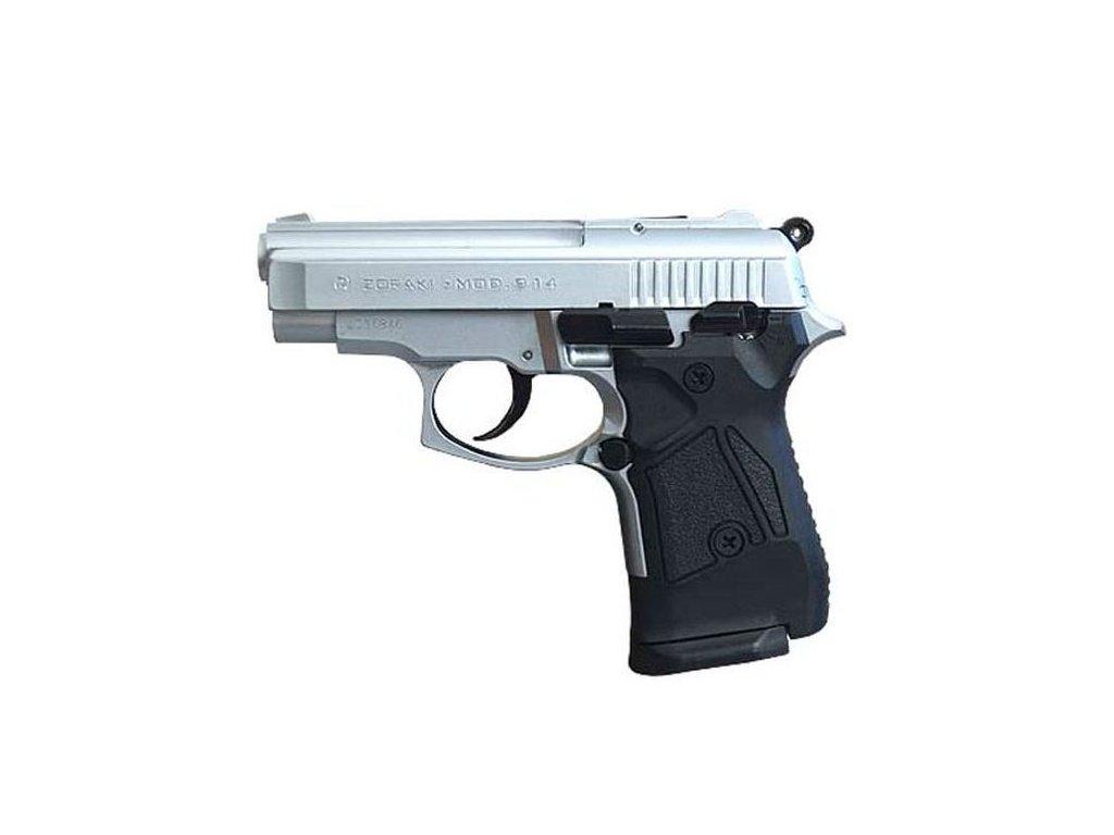 Plynová pistole Atak Arms Zoraki 914 matný Chrom cal. 9mm P.A.Knall