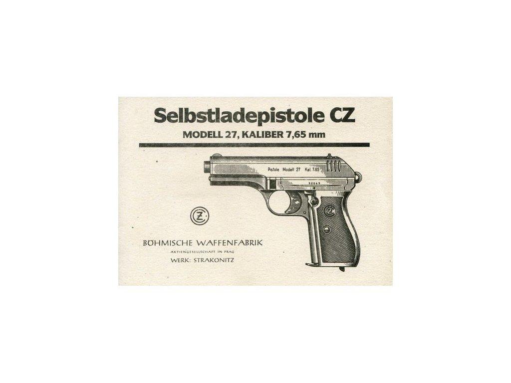 Manuál Pistole CZ - reprint