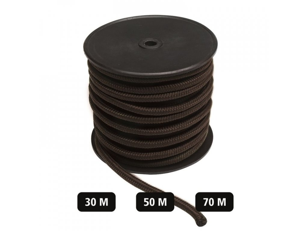 Šňůra MIL-TEC Commando 9mm Černá - role 30m