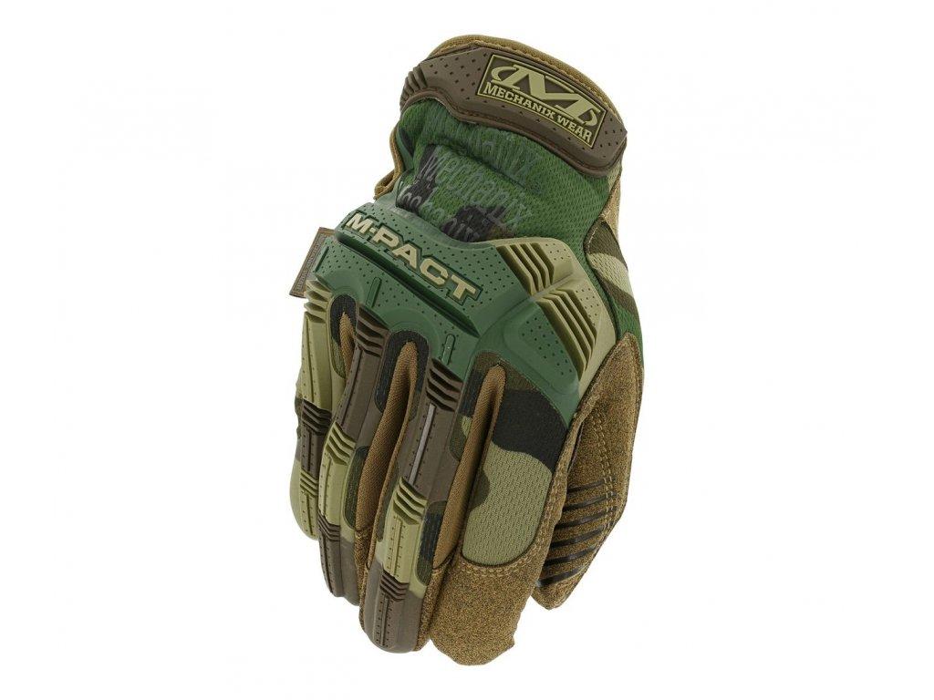 Rukavice Mechanix Wear M Pact Woodland Camo 1