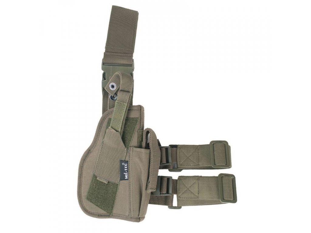 Pouzdro MIL-TEC na pistoli stehenní pravé Olive