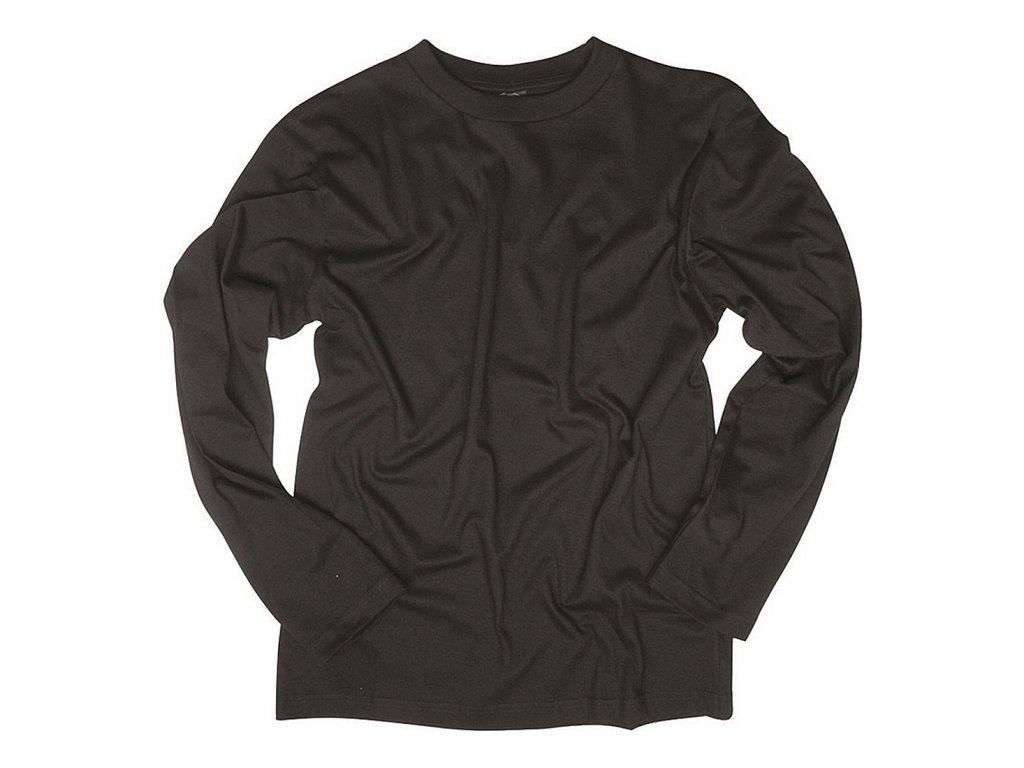 Tricko dlouhy rukav Single Jersey Black
