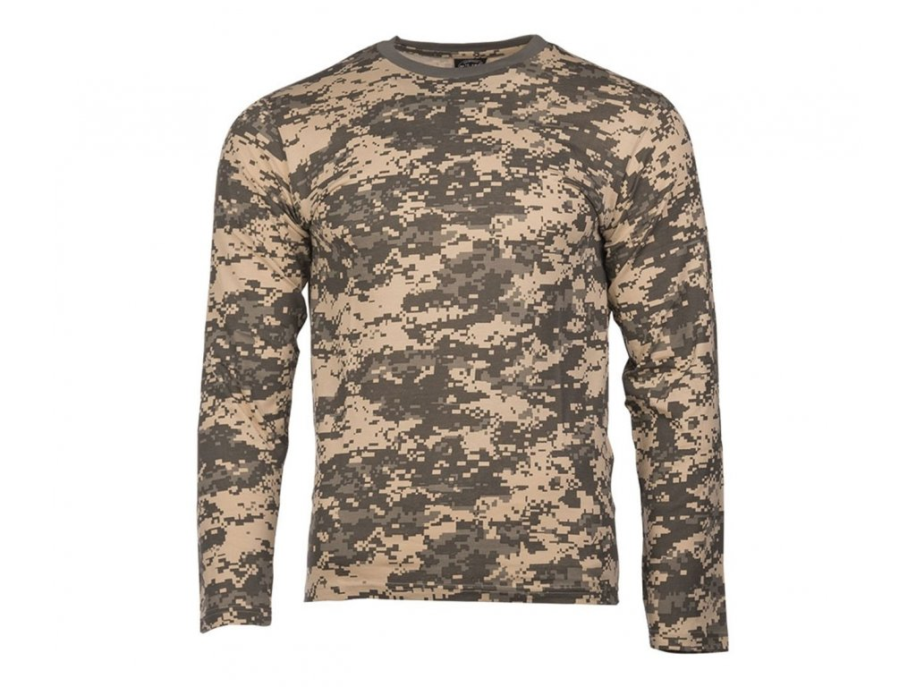 Tricko dlouhy rukav Single Jersey AT Digital camo