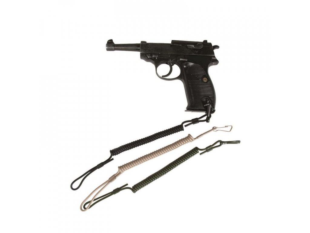 Pojistná šňůra MIL-TEC na zbraň Černá