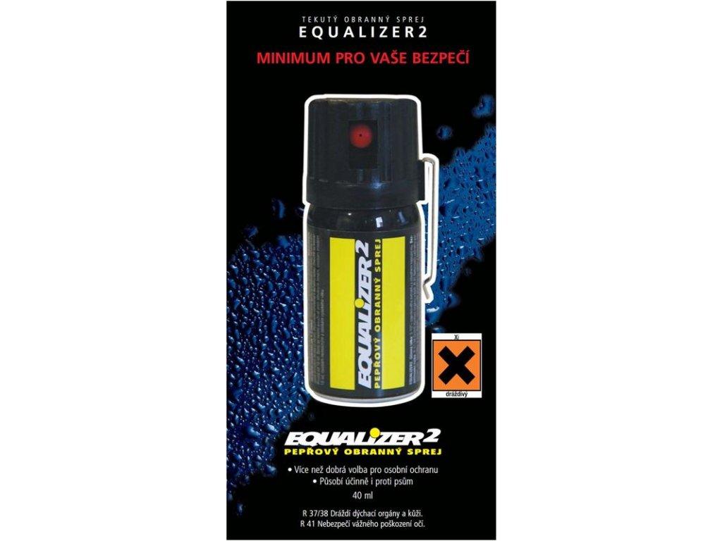 Pepřový obranný sprej EQUALIZER2 40 ml - tekutá střela
