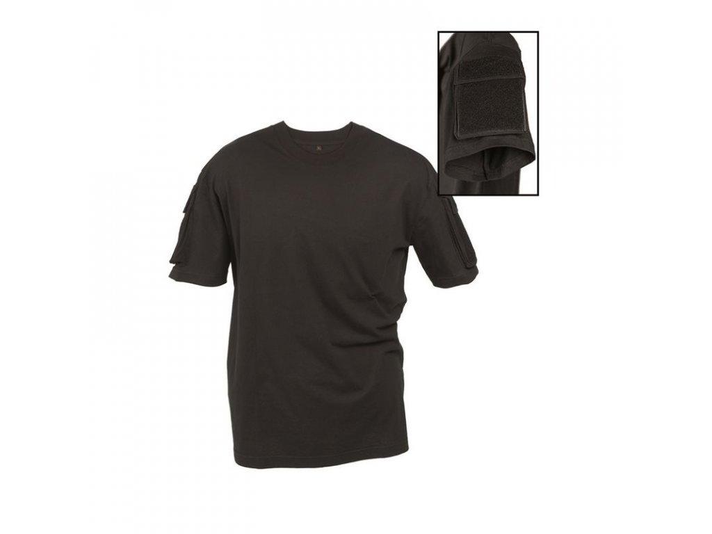 Taktické tričko MIL-TEC krátký rukáv Black